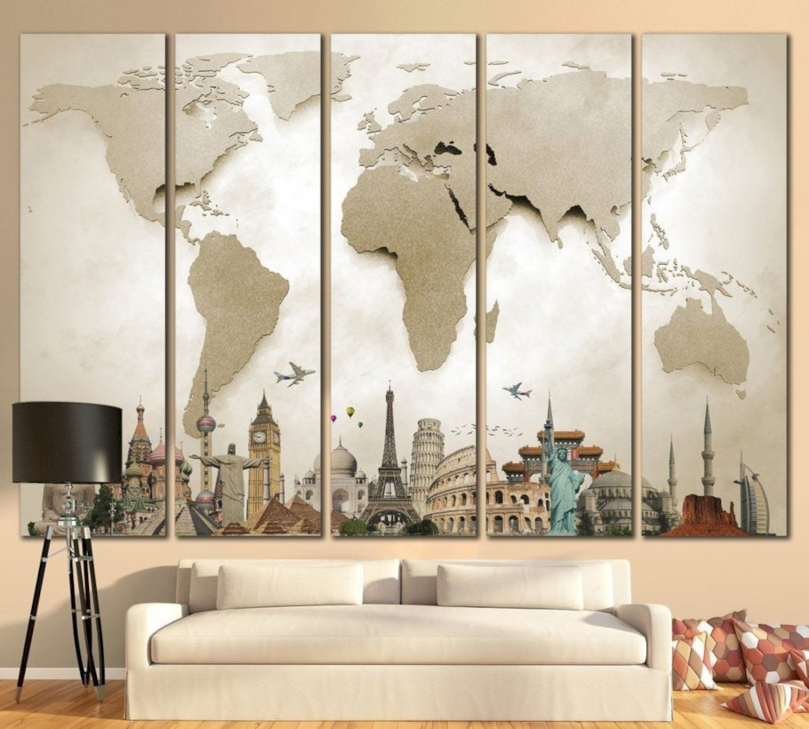 45 Awesome Large Wall Art Inspiration Ideas For Your Living Rooms Round Decor