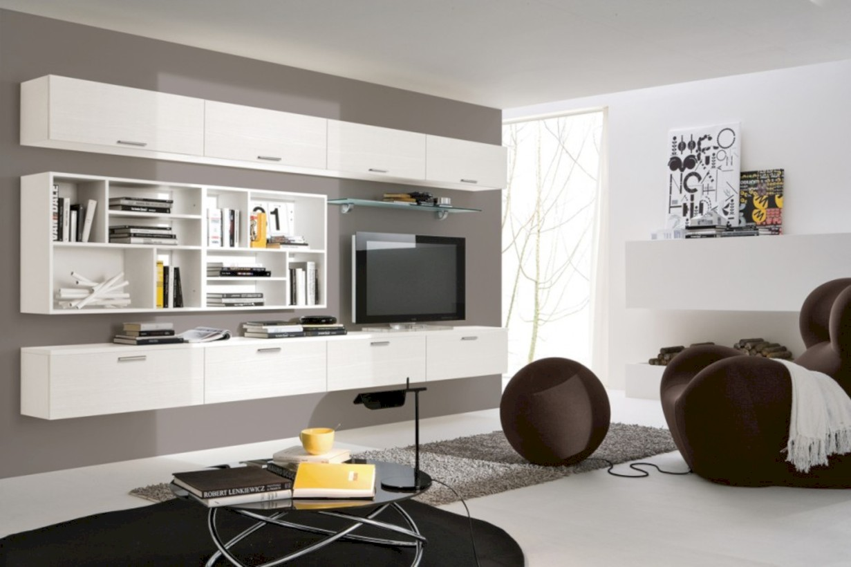 42 modern living room wall units ideas with storage for Living room units