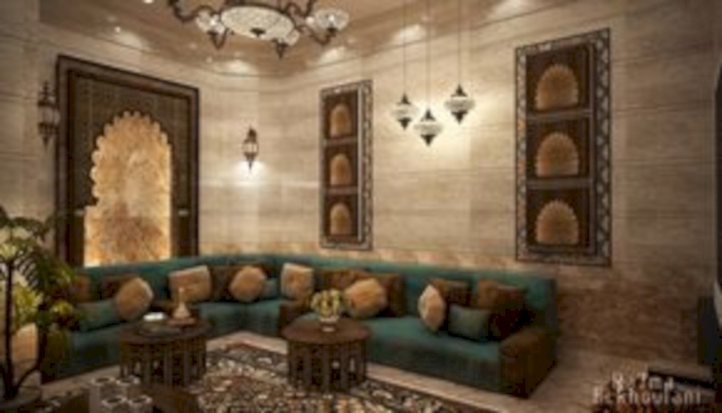 Relaxing moroccan living room decoration ideas 44 - Round Decor