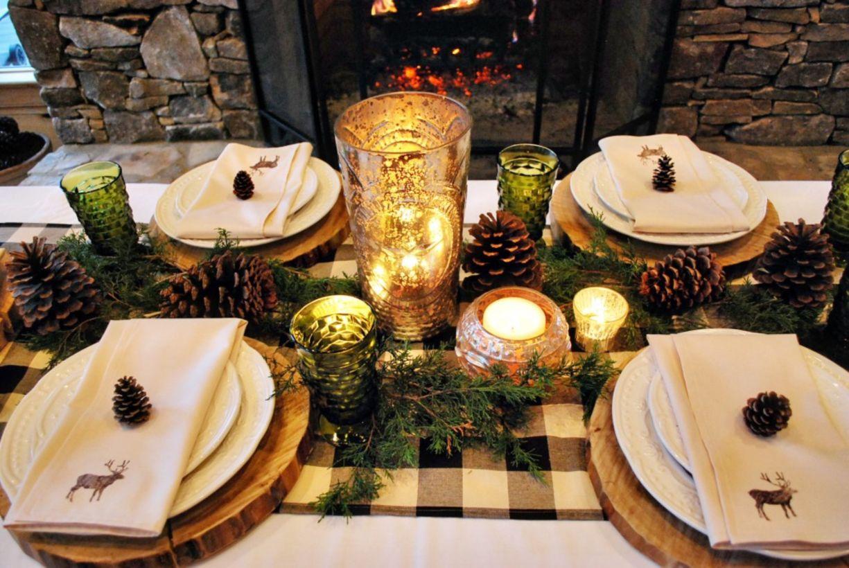 49 Simple Rustic Christmas Table Settings Ideas Roundecor