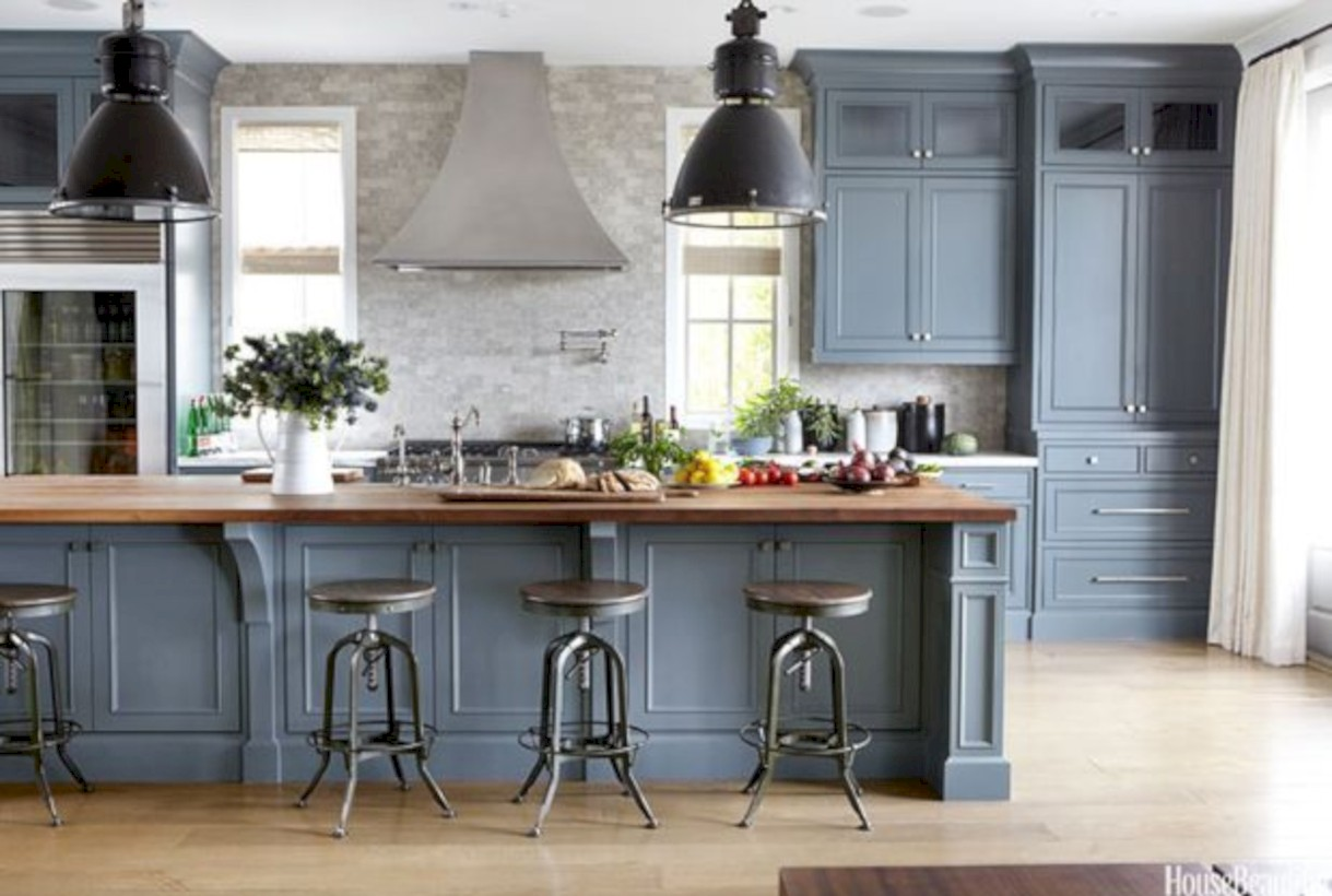 44 beautiful gray kitchen cabinet design ideas - roundecor