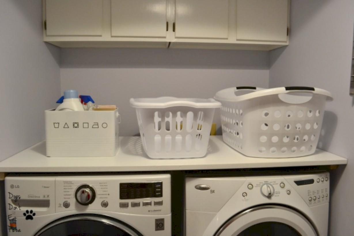 Brilliant small laundry room storage organization ideas on a budget 38