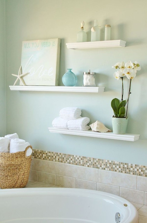 Cool bathroom storage shelves organization ideas 36 - Round Decor