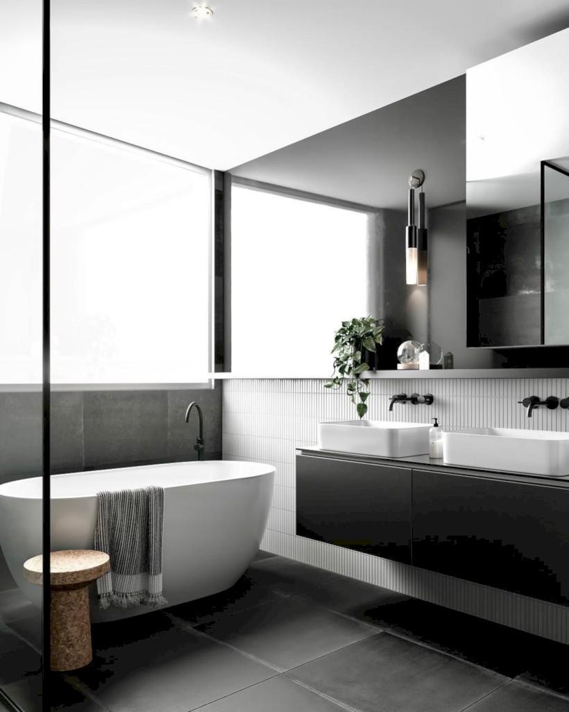 Cozy small scandinavian bathroom design ideas (11) - Round Decor