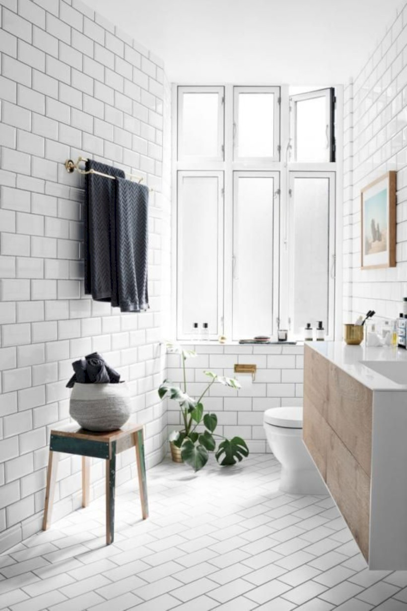 Cozy small scandinavian bathroom design ideas (14) - Round Decor