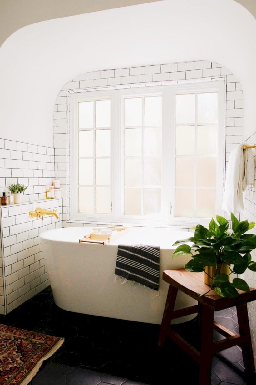 Cozy small scandinavian bathroom design ideas (27) - Round Decor
