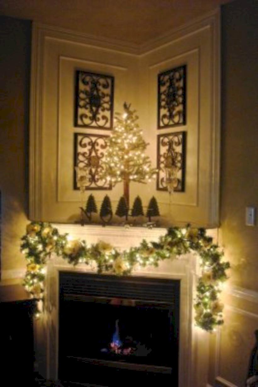 Gorgeous apartment fireplace decor ideas (43) - Round Decor