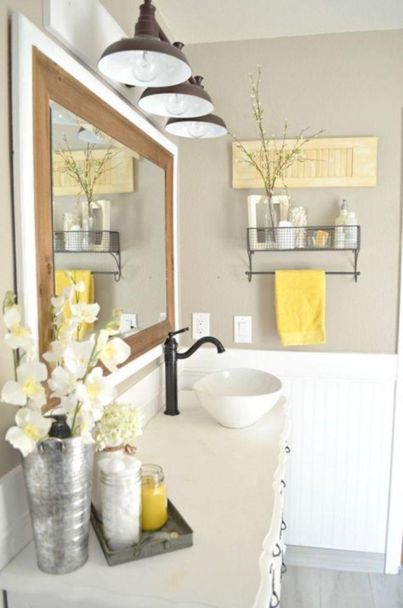 Modern farmhouse bathroom decor ideas 31 Modern
