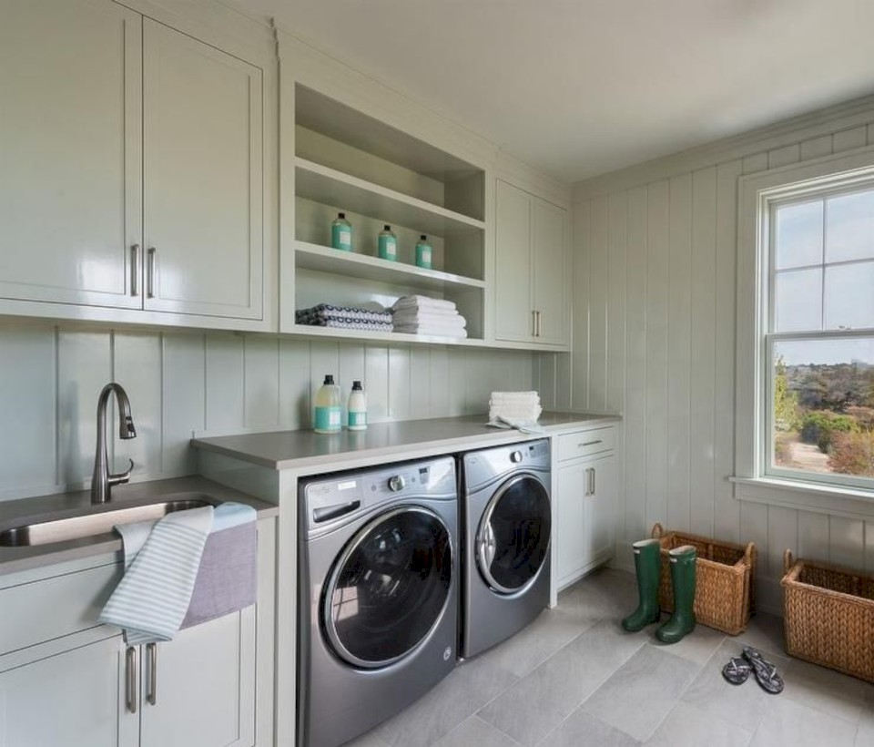 small door the room view behind stosol shelves tips all laundry ideas handyman space family organization