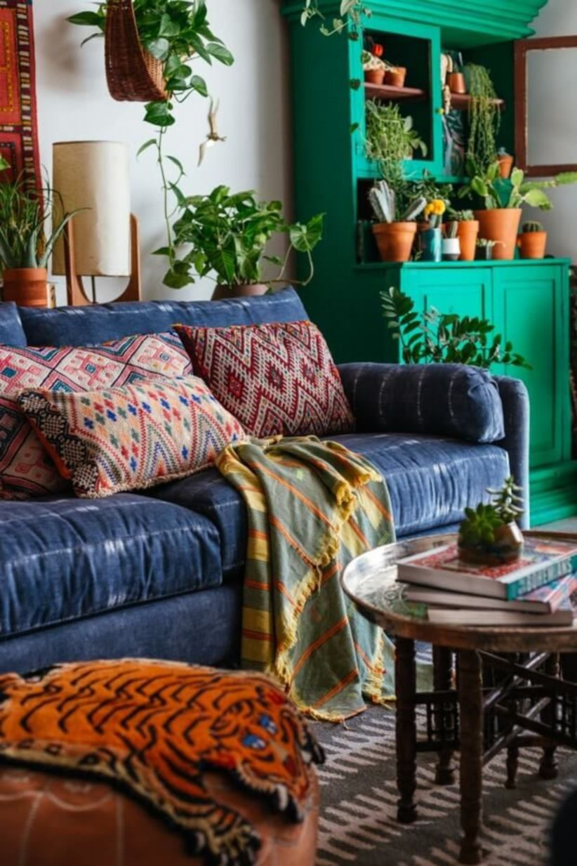 ... 822 × 1233 In 48 Amazing Bohemian Style Living Room ...