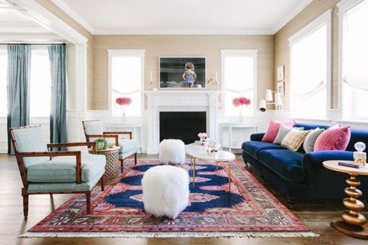 51 Elegant Carpet Ideas For Large Living Room - Round Decor