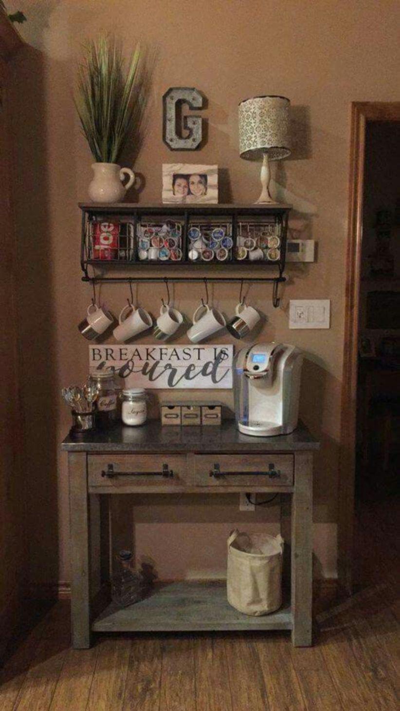 Fantastic Home Coffee Bar Design Ideas You May Try (12). Published April  29, 2018 At 822 × 1458 In 49 Fantastic Home Coffee Bar Design Ideas ...