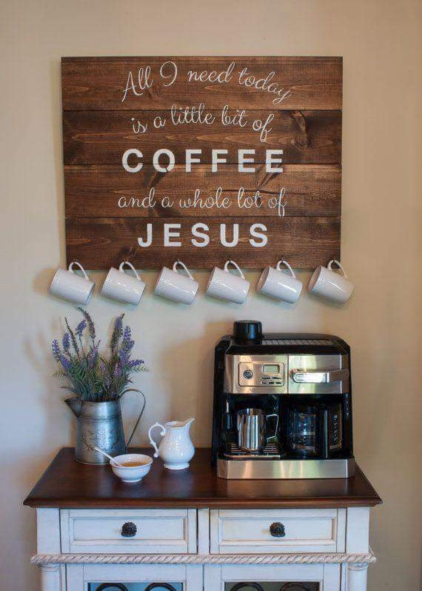 Fantastic Home Coffee Bar Design Ideas You May Try 19 Published April 29 2018 At 822 1150 In 49