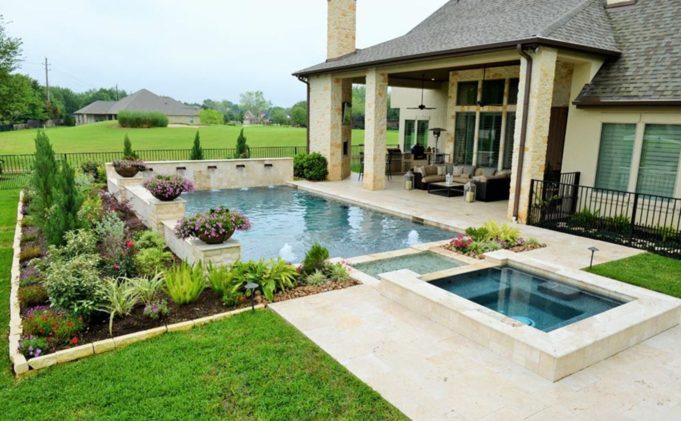48 beautiful small outdoor inground pools design ideas for Best pool design 2015
