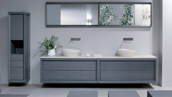 Affordable modern small bathroom vanities ideas 13