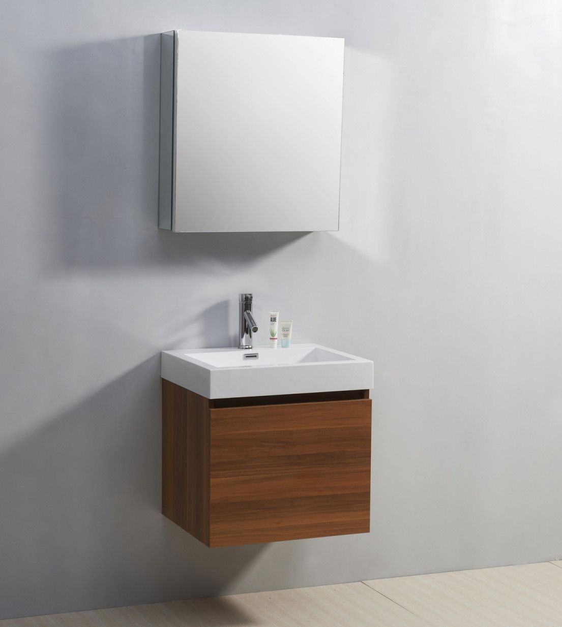 Affordable modern small bathroom vanities ideas 42 - Round Decor