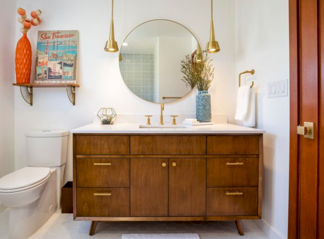 Beautiful Mid Century Modern Bathroom Ideas 25 Round Decor
