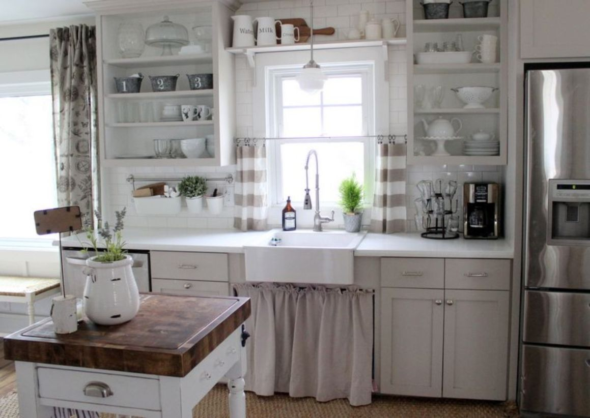 47 Most Popular Grey And White Kitchen Curtains Ideas ...