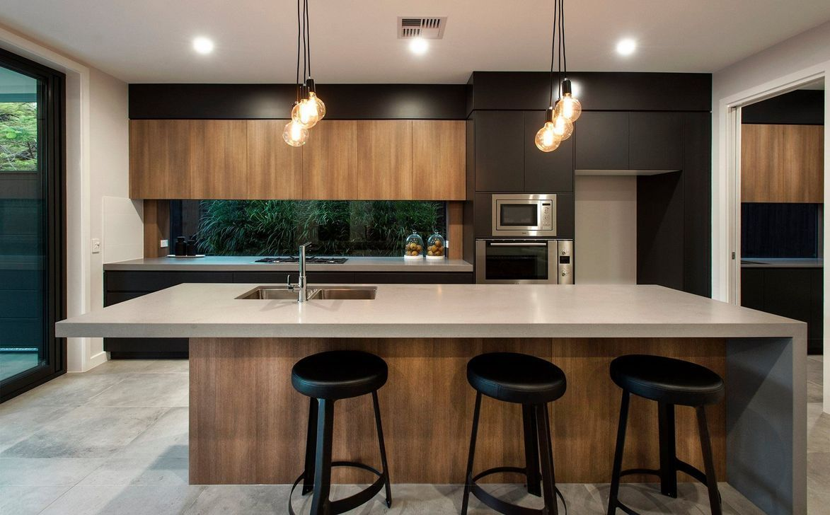 Amazing black kitchen design ideas 43