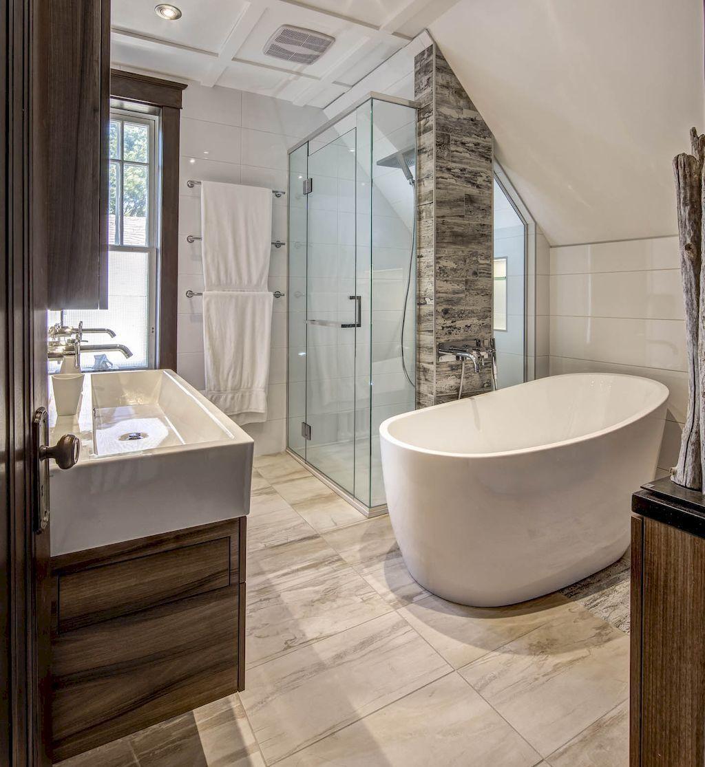 Bathroom Remodel Ideas To Inspire You: 49 Fabulous Small Farmhouse Bathroom Design Ideas