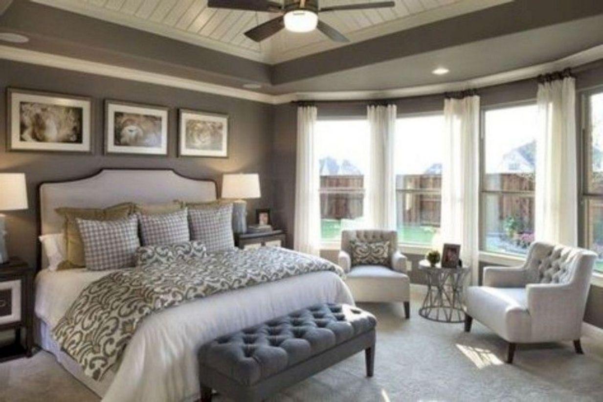 40 Cozy Farmhouse Master Bedroom Decoration Ideas - ROUNDECOR on Master Bedroom Farmhouse Bedroom Images  id=53764