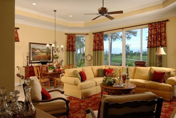 Cute french style living room for new home style 32