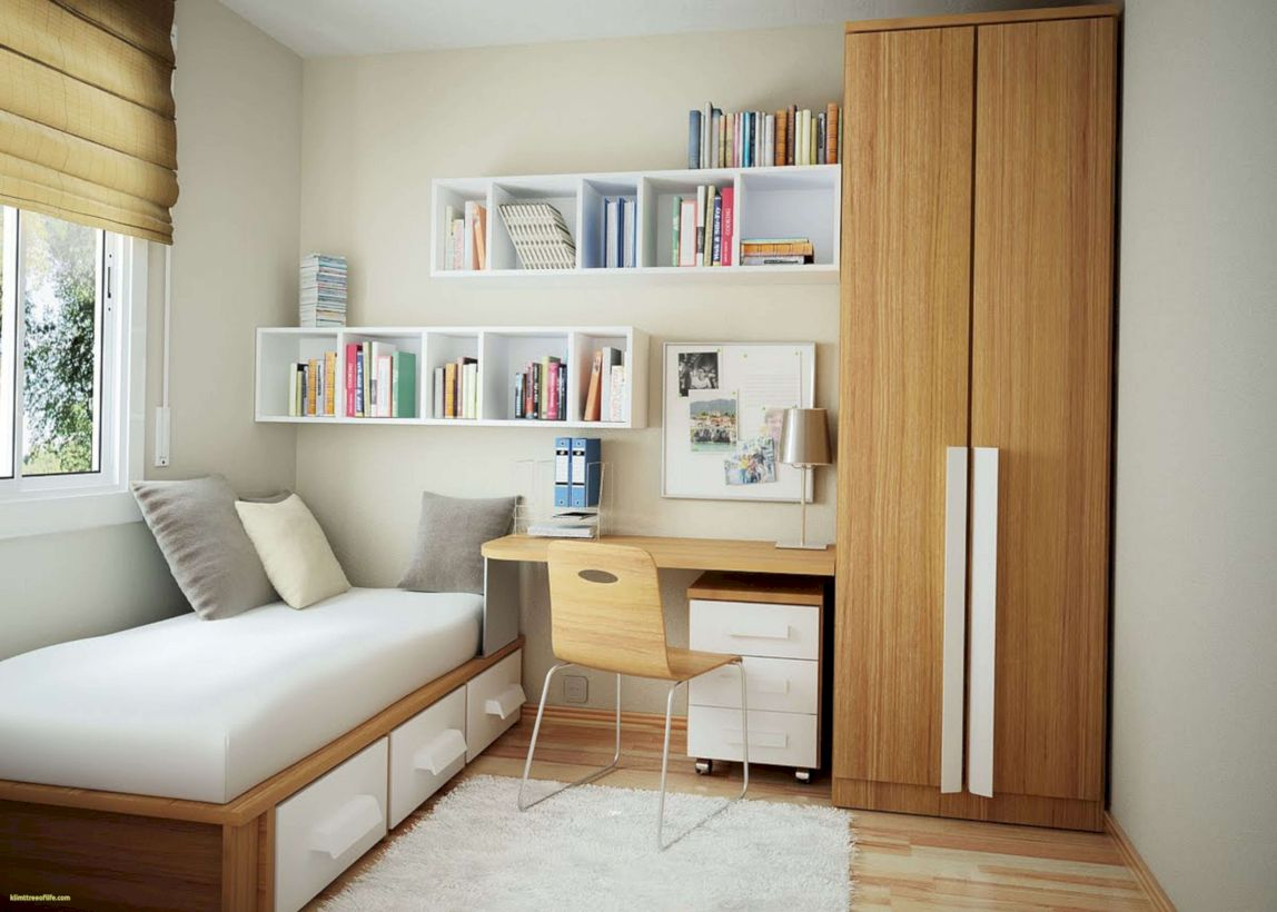 47 Cute Diy Bedroom Storage Design Ideas For Small Spaces - Roundecor