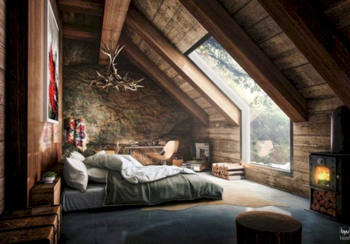 Charming bedroom design ideas in the attic 44
