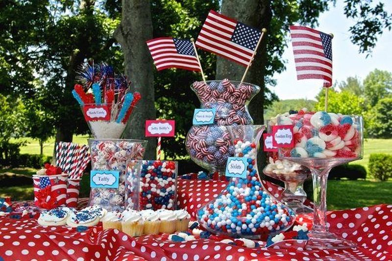 Newest 4th Of July Table Decorations Ideas 02 Round Decor